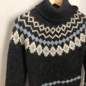 Vintage J Crew fair isle wool sweater